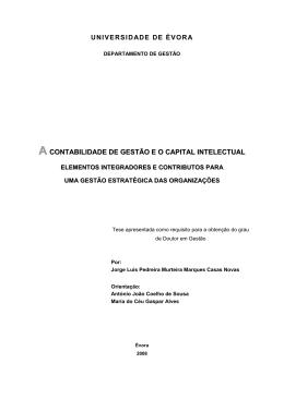 a contabilidade de gestão e o capital intelectual