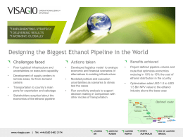 Designing the Biggest Ethanol Pipeline in the World