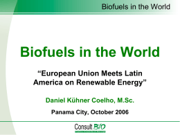 Biofuels in the World