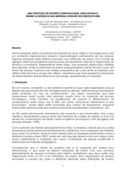 UMA PROPOSTA DE SUPORTE COMPUTACIONAL