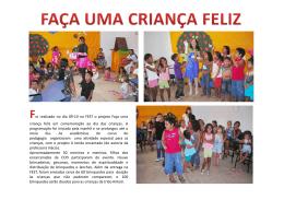oi realizado no dia 09-10 na FEST o projeto Faça uma criança feliz