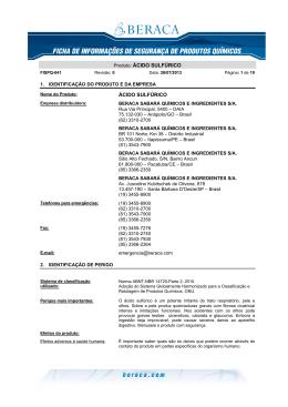 FISPQ 041 - Acido sulfurico Rev.0 26-07-2013