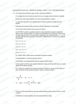 www.professormazzei.com – Reações de Oxidação – Folha 1 – Prof