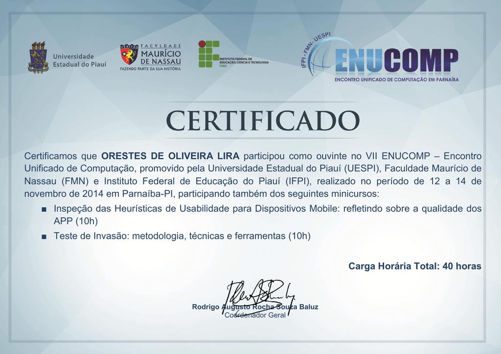 Certificados O S