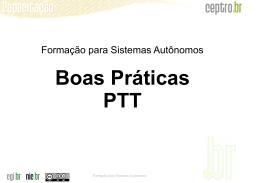 Boas Práticas PTT - Sala de Aula