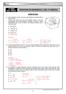 2ª série ens. médio monitoria de matemática 2