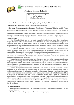 Projeto: Teatro Infantil - Cooperativa de Ensino e Cultura