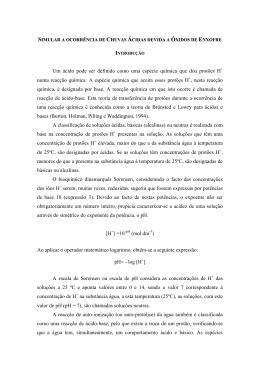 SIMULAR A OCORRNCIA DE CHUVAS CIDAS DEVIDA A