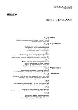 índice - Revista Nascer e Crescer