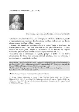JACQUES BÉNIGNE BOSSUET (1627