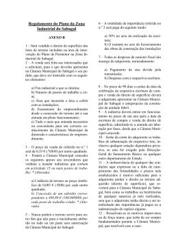 Regulamento do Plano da Zona Industrial do Sabugal