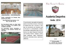 Folheto Academia 2014