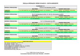 ESCALA OPERAÇÃO VERÃO 2014/2015
