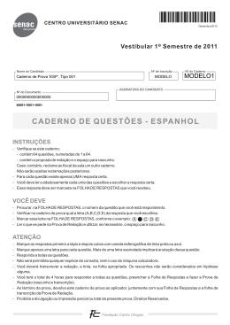 CADERNO DE QUESTÕES - ESPANHOL
