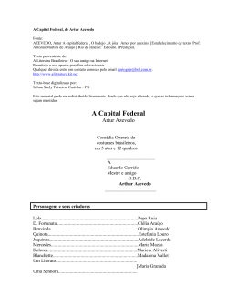 A Capital Federal, de Artur Azevedo