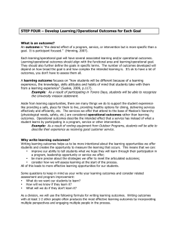 Writing Learning Outcomes Handout