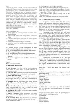 Prova de Inglês, Português1 (PT1) e Português2 (PT2)