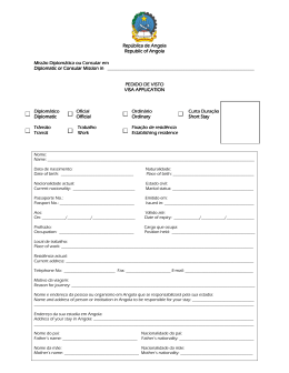 Application form - Embassy of the Republic of Angola