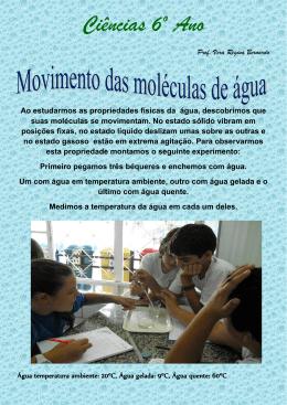 Movimento das moléculas de água – 6º ano