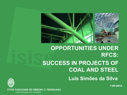 success in projects of coal and steel