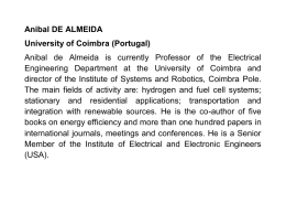 Anibal DE ALMEIDA University of Coimbra (Portugal) Anibal