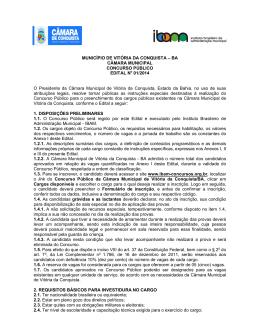 MUNICÍPIO DE VITÓRIA DA CONQUISTA – BA CÂMARA