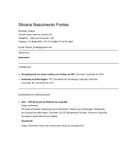 Silvana Nascimento Fontes - COSEMS-PB