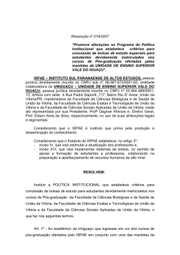 Resolução nº 019/2007