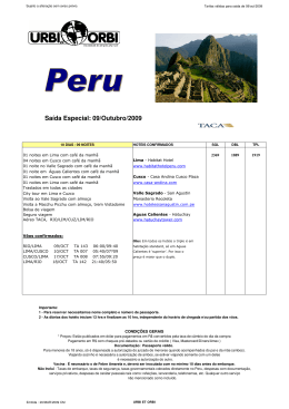 Grp Peru - 09oct09 - Premium Viagens e Turismo