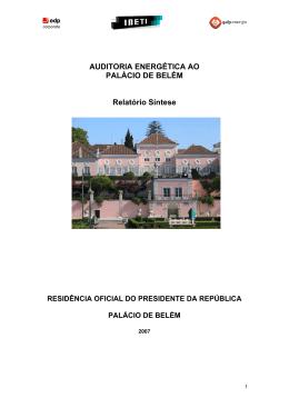 Relatório Síntese - Presidência da República