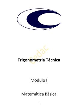 Trigonometria Técnica Módulo I Matemática Básica