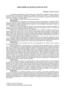 AUMENTO DA PRODUÇÃO COMPENSA QUEDA DE PREÇO