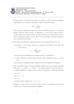 Potencial Elétrico - Instituto de Física da UFBA