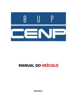 manual do veículo - BUP - Banco Único de Listas de Preços