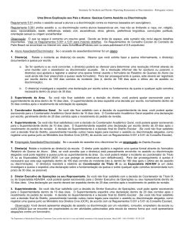 Queixas Contra Assédio ou Discriminação Regulamento 5.81