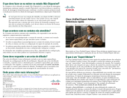 Cisco Unified Expert Advisor Quick Reference