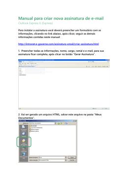 Manual para criar nova assinatura de e-mail
