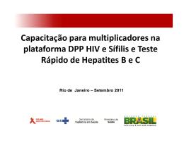 Capacitação para multiplicadores na plataforma DPP HIV e Sífilis e