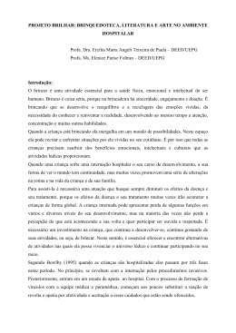 PROJETO BRILHAR: BRINQUEDOTECA, LITERATURA E ARTE NO