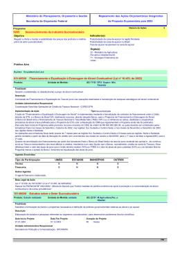 5005 Desenvolvimento da Indústria Sucroalcooleira Financiamento