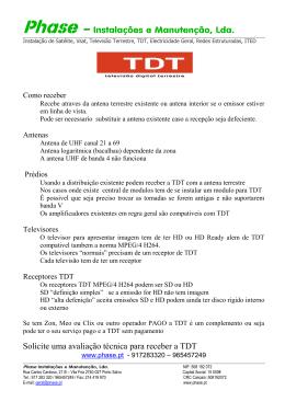 Instalação de Satélite, Vsat, Televisão Terrestre, TDT,