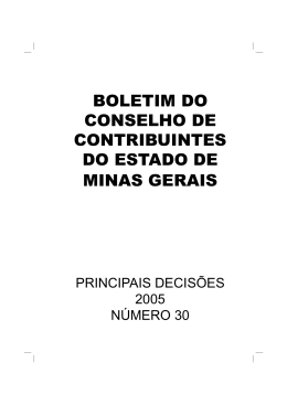 Boletim do CCMG nº 30 - Secretaria de Estado de Fazenda de