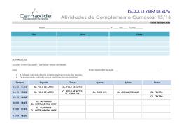 Ficha de Inscrição em Clubes | Escola Vieira da Silva