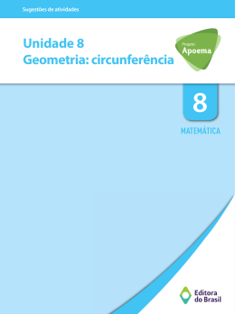 Unidade 8 Geometria: circunferência