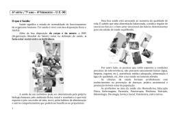 7º ano Apostila U.E 08 - Saúde, parasitas, vírus e vermes