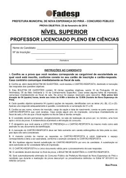 professor licenciado pleno em ciências