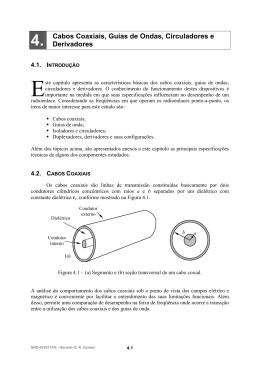 4. Cabos Coaxiais, Guias de Ondas, Circuladores