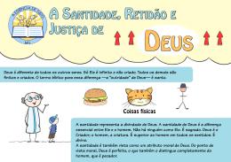 A sAntiDADe, RetiDão e JustiçA De