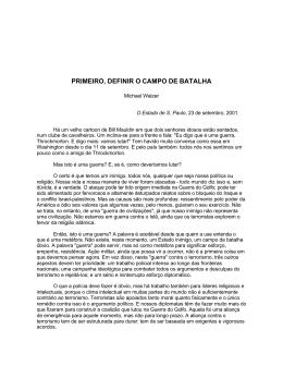 PRIMEIRO, DEFINIR O CAMPO DE BATALHA