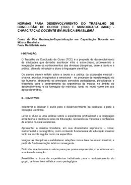 normas para desenvolvimento do trabalho de conclusão de curso (tcc)